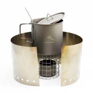 TOAKS lehký vařící set s hrncem 650 ml a lihovým vařičem