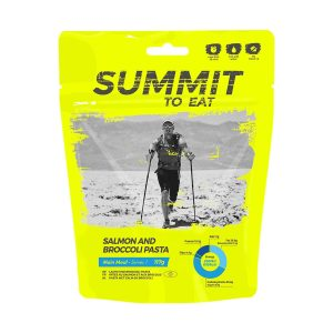 Dehydrované jídlo Summit To Eat losos s těstovinami a brokolicí -vydatné chutné jídlo, které zpestří váš jídelníček na treku.