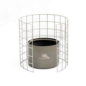 Jednoduchý stojan na hrnec z nerezové oceli určený k lihovému vařiči TOAKS