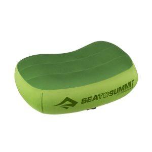 Lehký a odolný polštářek Sea To Summit Premium Aeros Pillow v zelené barvě