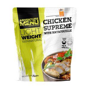 Vakuově balené lehké jídlo Adventure Menu Kuřecí supreme s ratatouille - Skvělá chuť šťavnatého kuřecího masa a čerstvé zeleniny