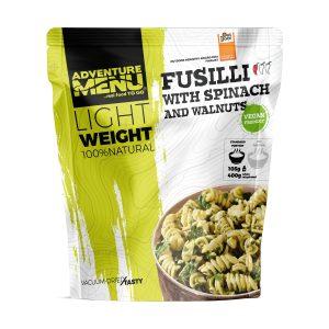 Vakuově balené jídlo Adventure Menu Fusilli se špenátem a vlašskými ořechy - magický zdroj energie