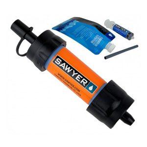 Malý a lehký vodní cestovní filtr Sawyer Mini SP128 Orange